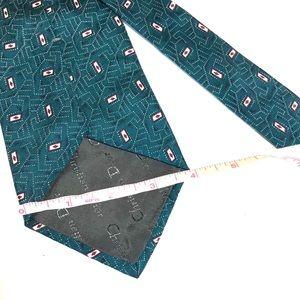 Dior Accessories - Christian Green Geometric Tie -100% silk 56Lx4W